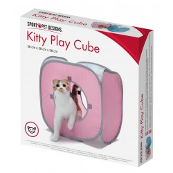 Play cube for cat tunnel - pink