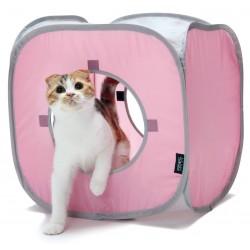 Legekube til kattetunnel - pink