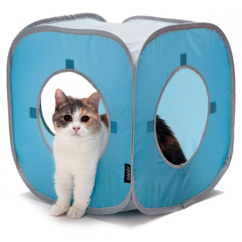 Play cube for cat tunnel - light blue
