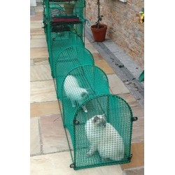 Deck & Patio - cat tunnel for patio and other hard surfaces - Kittywalk® portable outdoor cat enclosure