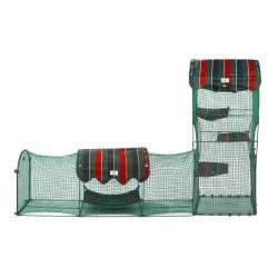 Town & Country - tower and tunnel - Kittywalk® portable outdoor cat enclosure