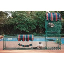 Town & Country - tårn og løbegang - Kittywalk® transportabel kattegård